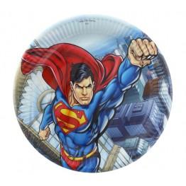Talerzyki papierowe-Superman-23cm-8 sztuk
