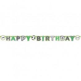 Banner urodzinowy Happy Birthday-Piłka Nożna-2m