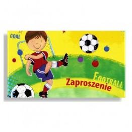 Zaproszenia urodzinowe Piłka nożna-Chłopiec-10 sztuk