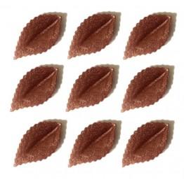 Listki z wafla brązowe pozłacane-100 sztuk
