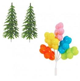 Jadalne naklejki cukrowe-Shimmer&Shine-16 sztuk