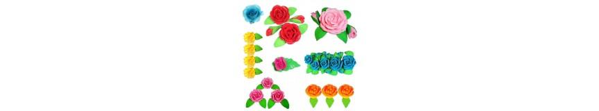 Kwiaty na tort z cukru