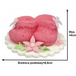 Buciki na podstawie dla dziewczynki-różowe