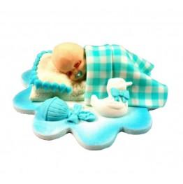 Śpiący bobas niebieski-chłopiec