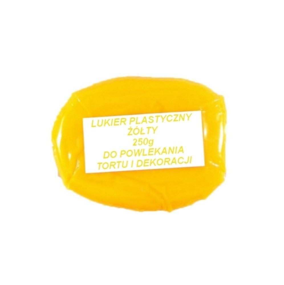 Lukier plastyczny żółty 250g