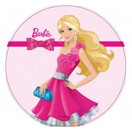 Opłatek na tort Barbie-Nr 1-21cm