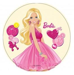 Opłatek na tort Barbie-Nr 10-21cm