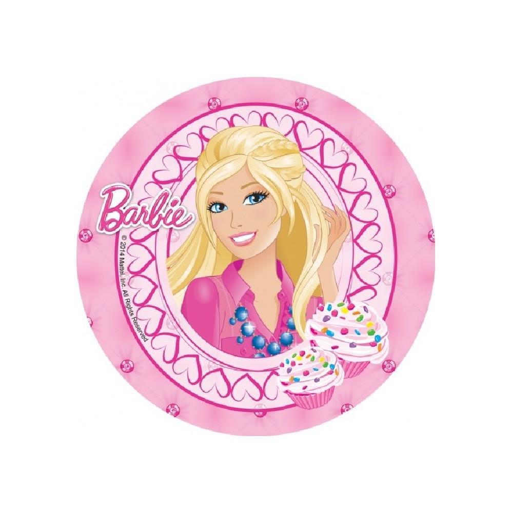 Opłatek na tort Barbie-Nr 14-21cm