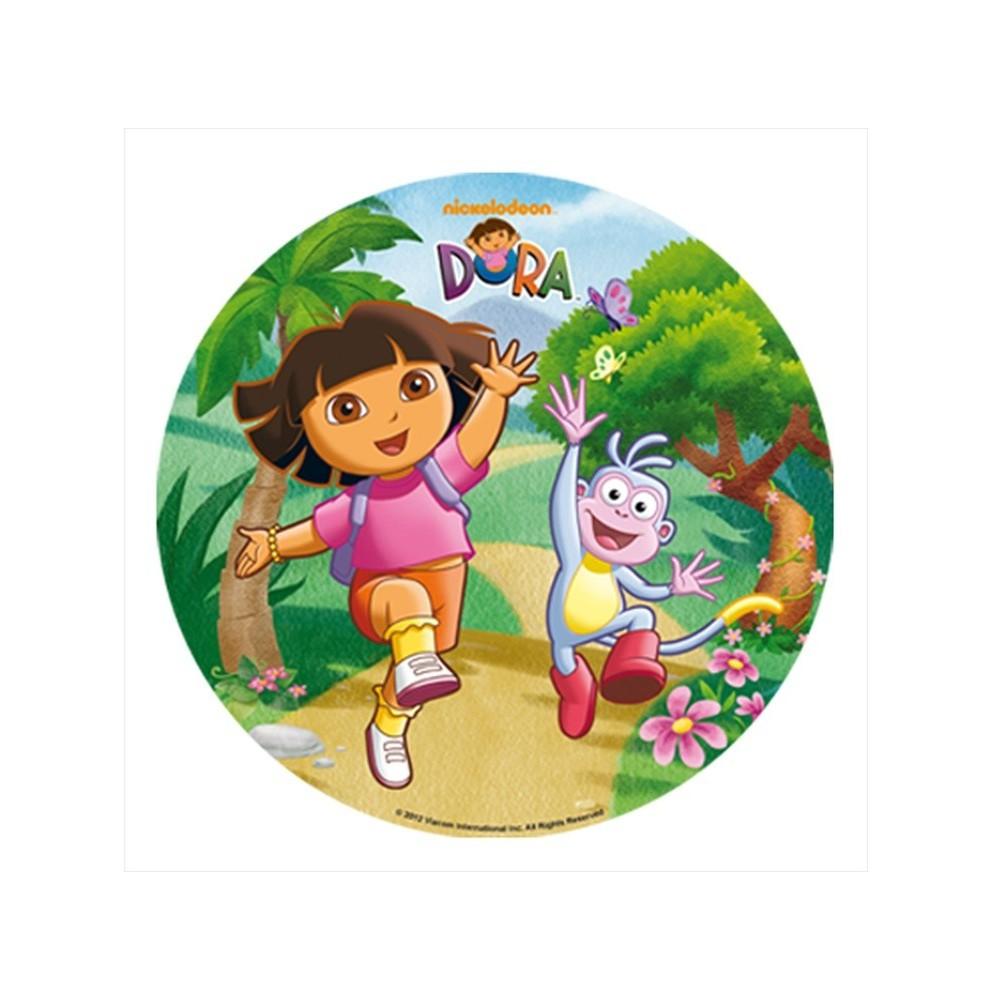 Opłatek na tort Dora-Nr 1-21cm