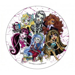 Opłatek na tort Monster High-Nr 4-21cm