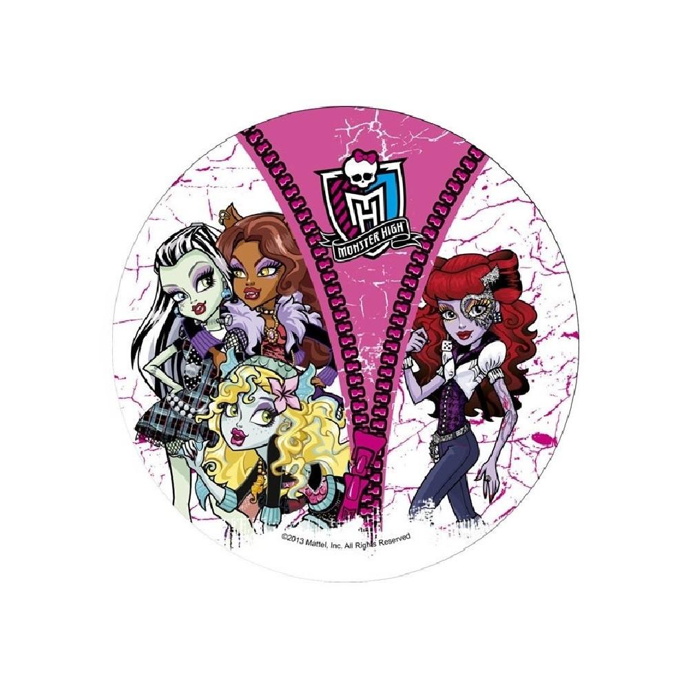 Opłatek Na Tort Monster High Nr 6 21cm