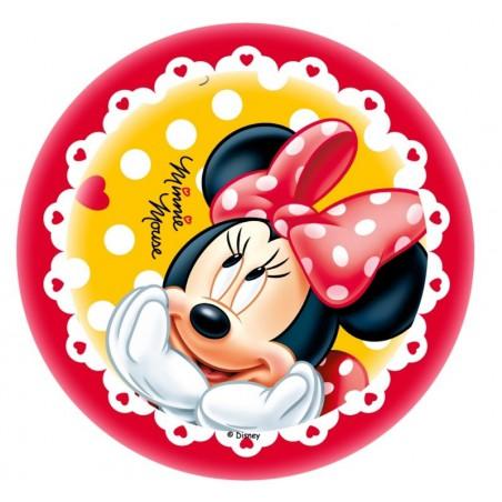 Opłatek na tort Myszka Minni-Nr 1-21cm