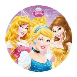 Opłatek na tort Księżniczki-Nr 2-21cm