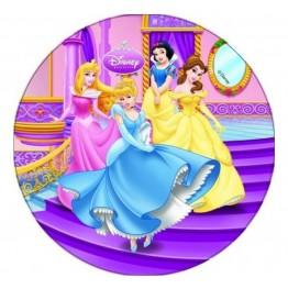 Opłatek na tort Księżniczki-Nr 4-21cm