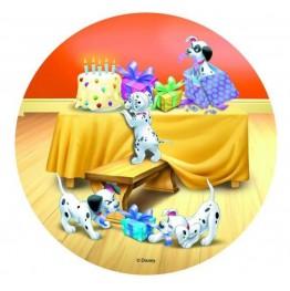 Opłatek na tort 101 Dalmatyńczyków-Nr 1-21cm