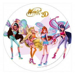 Opłatek na tort Winx 3D-Nr 3-21cm