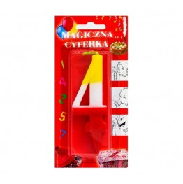 Świeczki urodzinowe cyferki magiczne 4