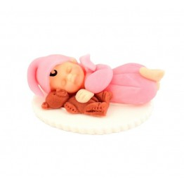 Bobas z misiem różowy-dziewczynka