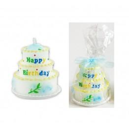 Świeczka urodzinowa Tort-niebieska