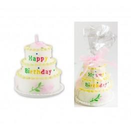 Świeczka urodzinowa Tort-różowa