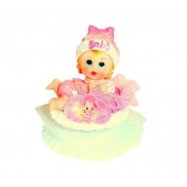 Dzidziuś na brzuchu różowy-dziewczynka