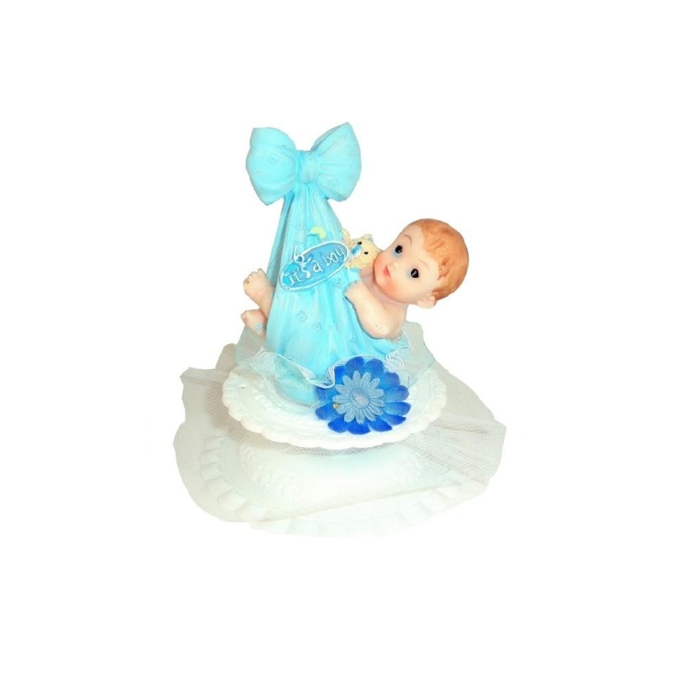 Dzidziuś w kokardzie niebieskie-chłopiec