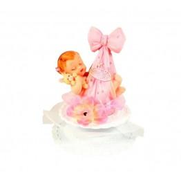 Dzidziuś w kokardzie różowe-dziewczynka