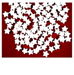 Konfetti cukrowe białe gwiazdki 25g