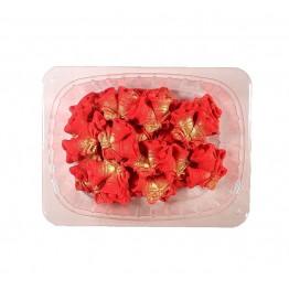 Dzwoneczki czerwone pozłacane z cukru 25 sztuk