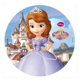 Opłatek na tort Księżniczka Zosia-Nr 6-21cm