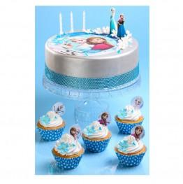 Opłatek na tort Kraina Lodu-Nr 1-21cm