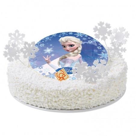 Opłatek na tort Kraina Lodu-Nr 4-21cm