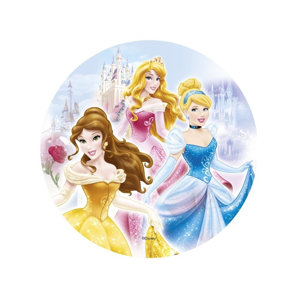 Opłatek na tort Księżniczki-Nr 11-21cm