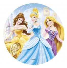 Opłatek na tort Księżniczki-Nr 13-21cm