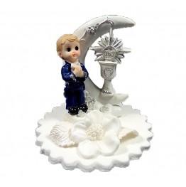 Figurka na tort komunijny Chłopiec z księżycem