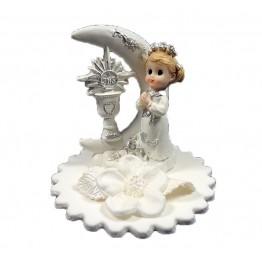 Figurka na tort komunijny Dziewczynka z księżycem