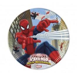 Talerzyki papierowe-Spiderman-23cm 8 sztuk