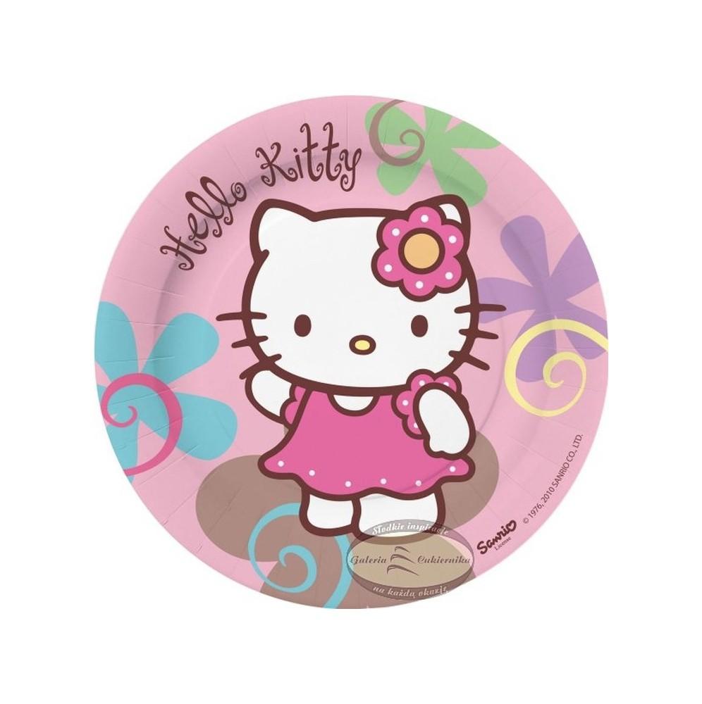Talerzyki papierowe-Hello Kitty-18cm 10 sztuk