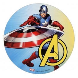 Opłatek na tort Avengers-Kapitan Ameryka-Nr 3-21cm