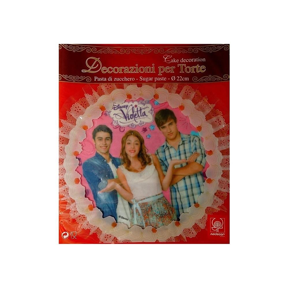 Opłatek na tort z cukru Violetta-Nr 1-22cm