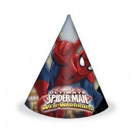 Czapeczki papierowe Spiderman 6 sztuk