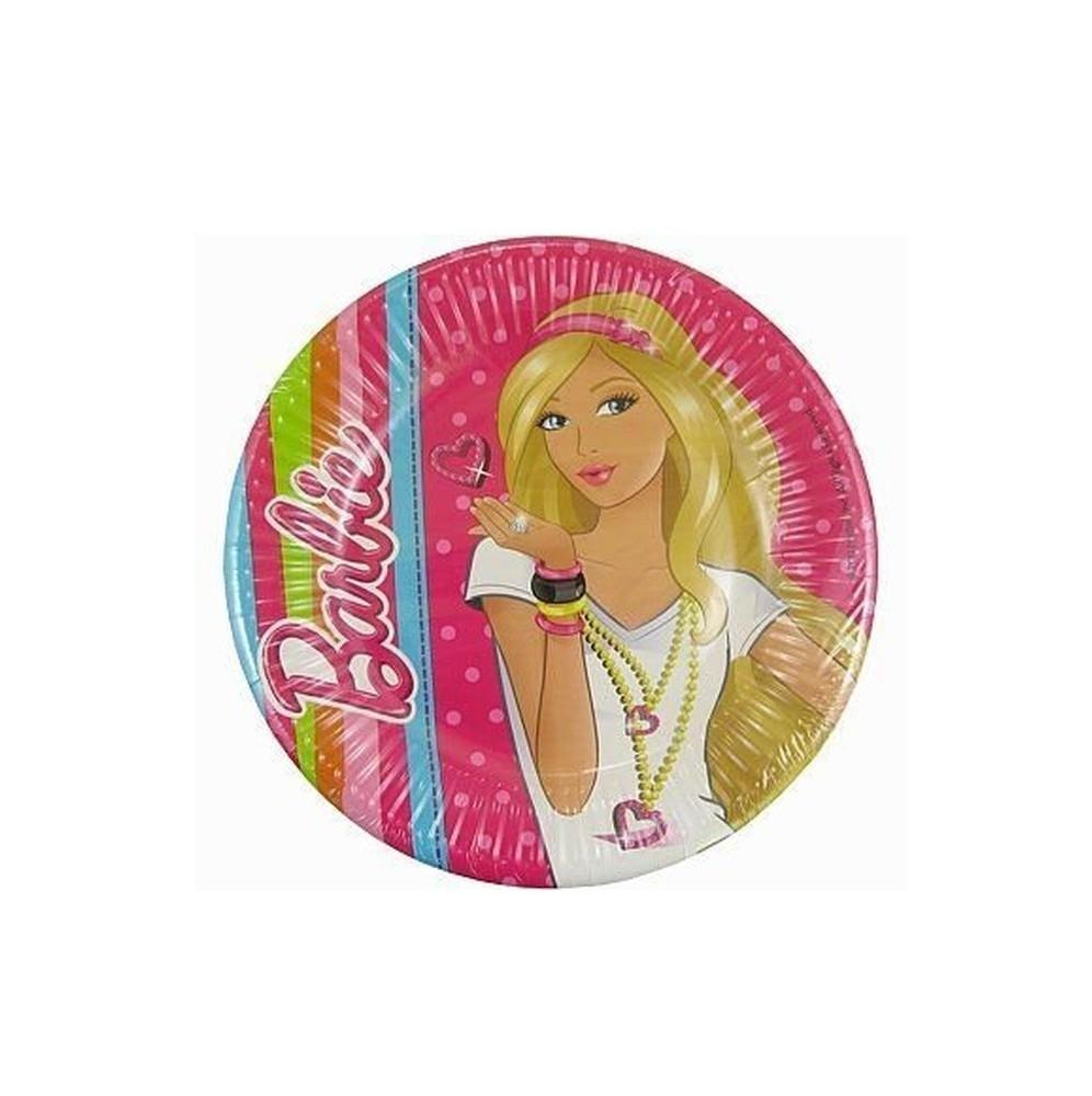 Talerzyki papierowe-Barbie-19