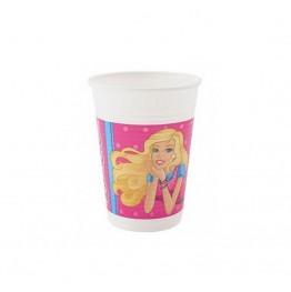 Kubeczki plastikowe Barbie-8 sztuk