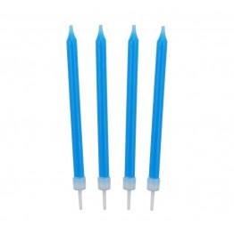 Świeczki urodzinowe niebieskie 10 sztuk