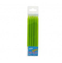 Świeczki urodzinowe zielone 10 sztuk