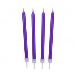Świeczki urodzinowe lawendowe 10 sztuk