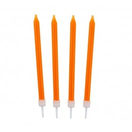Świeczki urodzinowe pomarańczowe 10 sztuk