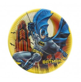 Talerzyki papierowe-Batman 23cm-8 sztuk
