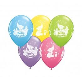 Balony Qualatex-Baby Shower 5 sztuk