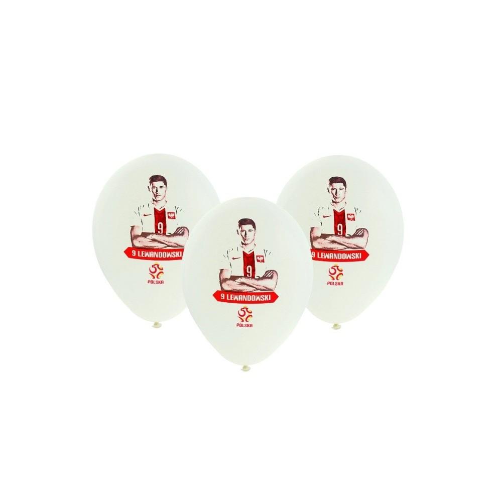 Balony piłkarskie Polska-Lewandowski zestaw 5 sztuk